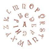 Parches bordados con letras del alfabeto, para planchar o coser, para mochilas, camisetas, vaqueros, bufandas, sombreros, ropa, manualidades, 25 mm, 26 unidades rosa