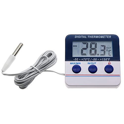 Digitales Thermometer für den Innen- und Außenbereich, für Gefrierschrank, Kühlschrank, Thermometer