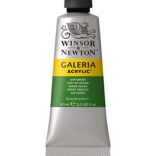 Winsor & Newton Galeria Acrylic Paint, 60-ml Tube, Sap Green, 2 Fl Oz