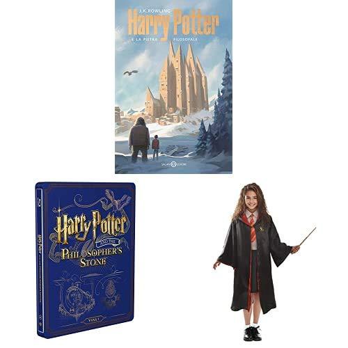 Harry Potter E La Pietra Filosofale (Steelbook + Libro) + Travestimento Hermione Granger