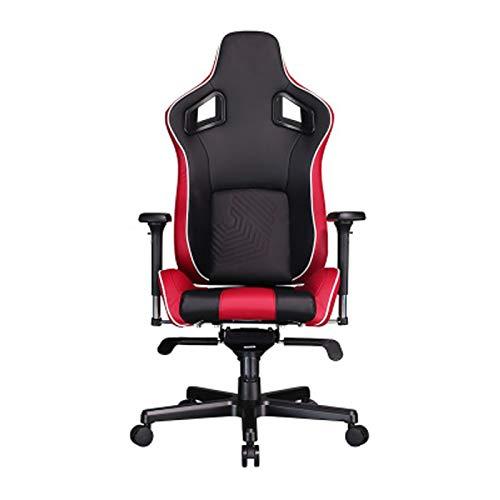 Silla de juego para juegos de silla de ordenador para el hogar Silla de oficina ergonómica para juegos Silla ajustable con respaldo alto mesas y sillas de rotación rojo