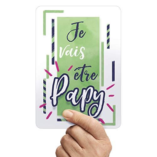 Carte Annonce de Grossesse - Je vais être Papy - Une jolie photo pour une belle Surprise au Futur Papy