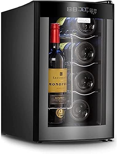 FREEZYMAN Independent Wine Cellar, 10-Bottle Wine Cooler, Temperature-Controlled Wine Refrigerator, Small Household Ice Bar, Electronic Refrigeration (Color : Gray, Size : 255045.3cm)