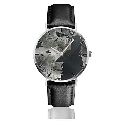 Los niños Miran Reloj Pulsera niño Historieta 3D Impermeable Huginn Muninn Odin Pantalla Redonda 38mm Batería de botón Poder Unisex Watch