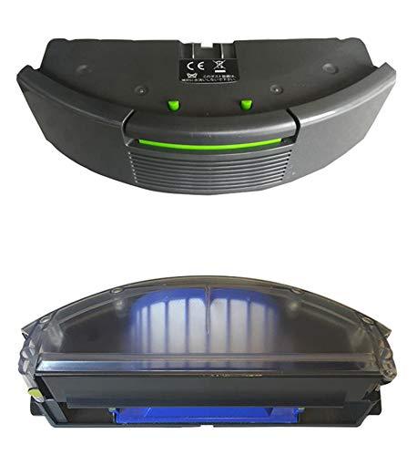Kvatar Filtro Hepa AeroVac contenedor de polvo compatible con Irobot Roomba 680 690 Series 681 684 685 690 691 694 695 caja de colección de filtros de repuesto