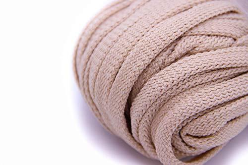 NTS Nähtechnik 50m Flachkordel aus Polyester ohne Kern 8mm breit (Beige)