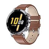 XYZK Nuevo L16 Smart Watch Hombres IP68 Impermeable Deportes Monitoreo Frecuencia Cardíaca Y Presión Arterial Medición Pronóstico del Tiempo Bluetooth Music Smartwatch (C)