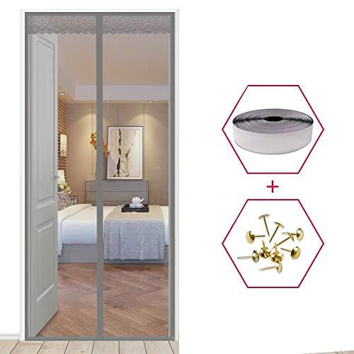 Familiensommer Schlafzimmer hochwertige Vorhänge langlebige Anti-Mücken Anti-Moskito-Mesh-Sieb Vorhänge schließen automatisch die Türgitter Sommer-Bildschirm A2 B80xH210