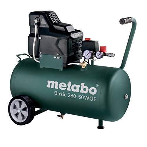 Druckluftkompressor / Kompressor Basic 280-50 W OF | leistungsstark und robust für einfache, gewerbliche Anwendungen, ölloser Kolbenverdichter und guter Kaltstart | Fülleistung: 140 l/min, 8 bar