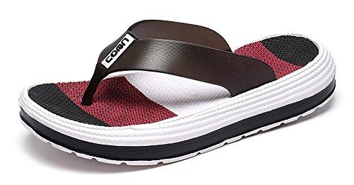 Yooeen Unisex Zehentrenner Bequem Weich Fußbett Sommer Badelatschen Flip Flops Bunt Leicht Badeschlappen Hausschuhe Badeschuhe Strand Barfuß Schuhe für Herren Damen