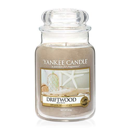 Yankee Candle Driftwood Glaskerze, groß, braun