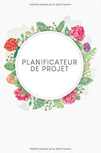 Planificateur de projet: Chronologie + jalons + beaucoup d'espace pour les notes et les croquis | Motif : Aquarelle Fleurs