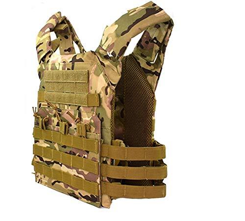 Whspndu Tactical Vest, Adjustable Modular Combat Training Vest, for Outdoor Hunting, Fishing, CS War Game, Paintball (cp)