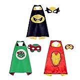 BJ-SHOP Kinder Umhang Maske, Kostum Kinder die Mantel Jungen und Madchen Superheld Spielwaren fur...