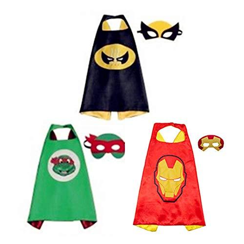 Kinder Umhang Maske, Kostum Kinder die Mantel Jungen und Madchen Superheld Spielwaren fur Geburtstag und Kinderkostum Partei Zurechtmachen