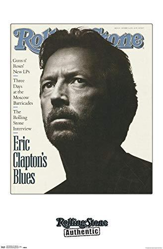 Trends International Rolling Stone Magazine - Eric Clapton 91 Wall Poster, 14.725' x 22.375', Premium Unframed Version