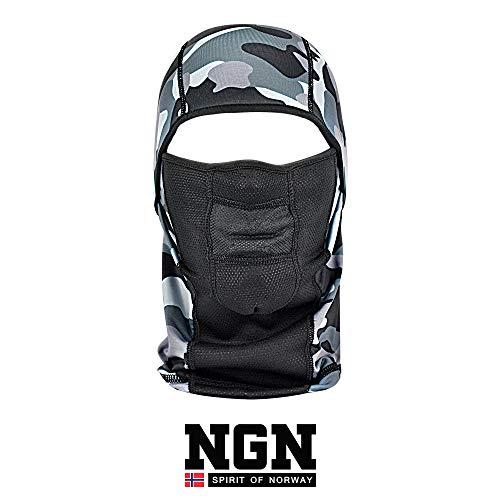NGN Balaclava Carmouflage für Damen & Herren – Sturmhaube für Ski, Snowboard, Motorrad & Fahrrad | gefleckte Sturmmaske | Atmungsaktive Skimaske | Gesichtsmaske | Outdoor Face-Mask | Motorradmaske