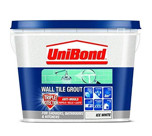 UniBond Triple Protect Anti-Mould Wall Tile Grout - 1.38KG, White