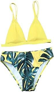 YAliDa 2019 clearance sale Women's Bikini Set Sexy Leaves for Rope Swimsuit Push-up Swimwear (,