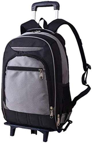 Rolling Backpack, Wheeled Laptop Backpack for Travel, Freewheel Carryon Trolley Luggage Suitcase Compact Business Bag, Wheeled Rucksack Student Computer Trolley Carry Luggage