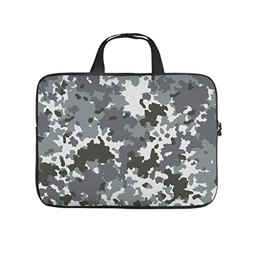 Camouflage Laptop Bag Multifuntional High Capacity Laptop case Sleeve Laptop Messenger Bag for Office School Business Trip for Workers Students White 17 Zoll
