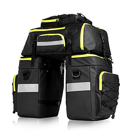 N \ A Pannier Bag 3 In 1 Waterproof Bicycle Saddle Bag Multifunctional Bike Rear Seat Trunk Bag For Bicycle Cargo Rack Bag Shoulder Bag Bicycle Bag