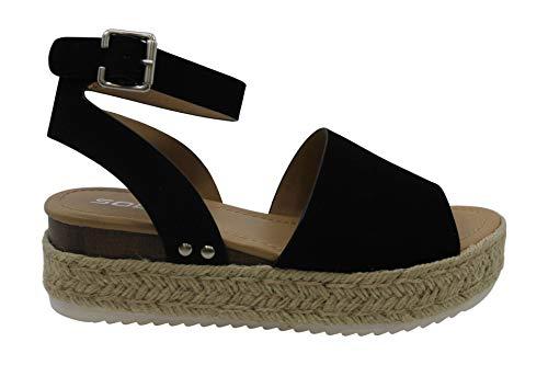 Soda Women's Ankle Wrap Espadrille Flat