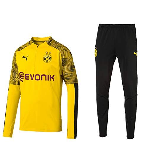 PUMA BVB Fanartikel Borussia Dortmund Trainingsanzug 2019/20 Herren, Größe:M, Farbe:Gelb