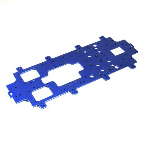 Aluminum main chassis (3mm / Blue) GGW01 (japan import)