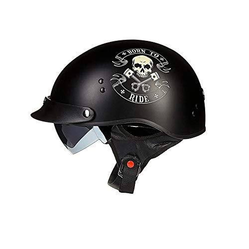 CARACHOME Downhill Helm, Helm Regenschutz mit Brille, Retro Helm für Männer und Frauen Geeignet Scooter Bike Motorrad Motocross Cruiser CS Game,A,XXL