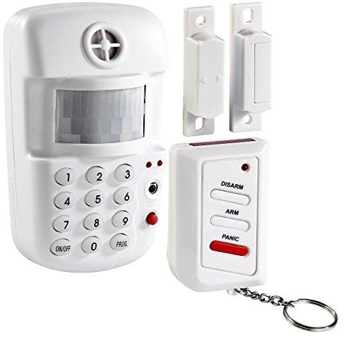 VisorTech Alarmanlage Keller: 3in1-Hausalarm mit Bewegungsmelder und Fenster-/Türsensor (Alarmanlage Haustür)