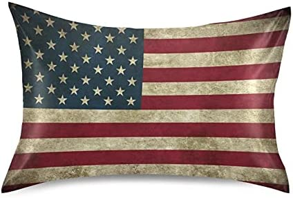 Meetutrip Satin Throw Pillow Ranking TOP17 Covers Theme Max 58% OFF USA Flag Pillowcase fo