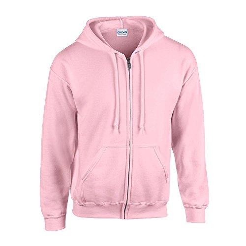 Gildan - Kapuzen Sweat-Jacke 'Heavyweight Full Zip' XXL,Light Pink