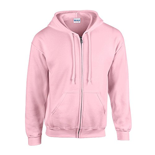 Gildan - Kapuzen Sweat-Jacke 'Heavyweight Full Zip' XXL,Light Pink