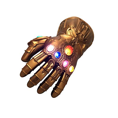 Easter Kids Infinity Gauntlet Portable Electronic Arm LED Light PVC Gloves Toys Gift for Christmas Carnival Party Rose Gold