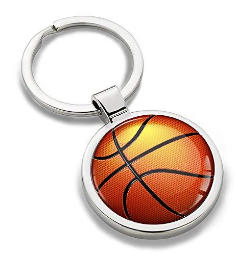 Biomar Labs® Schlüsselanhänger Metall Keyring mit Geschenkbox Autoschlüssel Geschenk Metall-Schlüsselanhänger Schlüsselbund Edelstahl Sport Spiel Basketball Emblem, KK 202