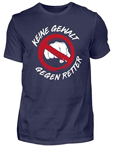 Rettungskräfte Keine Gewalt gegen Retter - Herren Shirt -S-Dunkel-Blau