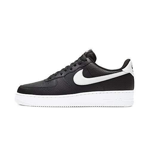 Nike Air Force 1 '07, Zapatillas de básquetbol Hombre, Black/White, 40.5 EU