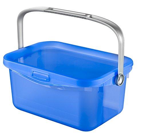 Wasmiddelcontainer 3L wasmiddel Curver Box hengsel blauw/transparant wasknijperdoos