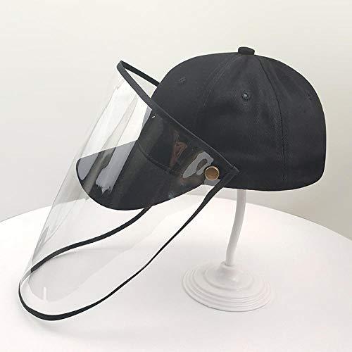 Schutzkappe Männer und Frauen Sommermode Kappen Anti-Schaum-Spuckhut männliche Baseballkappe Maske Abdeckung Gesicht Sonnenschutz Sonnenhut-Kinder schwarz