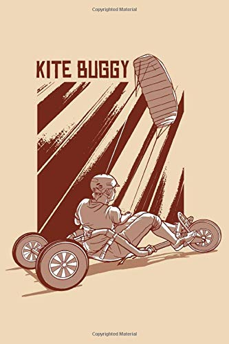 KITE BUGGY NOTEBOOK: 6x9 checkered notebook for all who love kite buggy