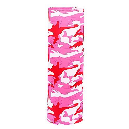 Bocotoer - Cinta para la cabeza, bandanas sin costuras, bandanas protectoras, bufanda, pañuelo cuadrado, pañuelo para la cabeza, color rosa
