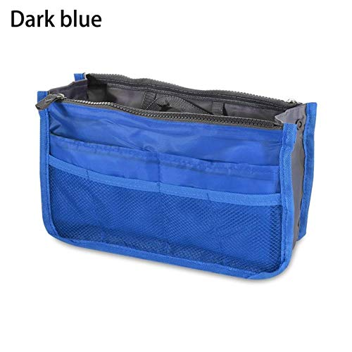 IONE Portable Cosmetic Bag Travel Multifunctional Storage Bag Beauty Bag Bathroom Cosmetic Bag Cosmetic Storage Bag, Dark Blue