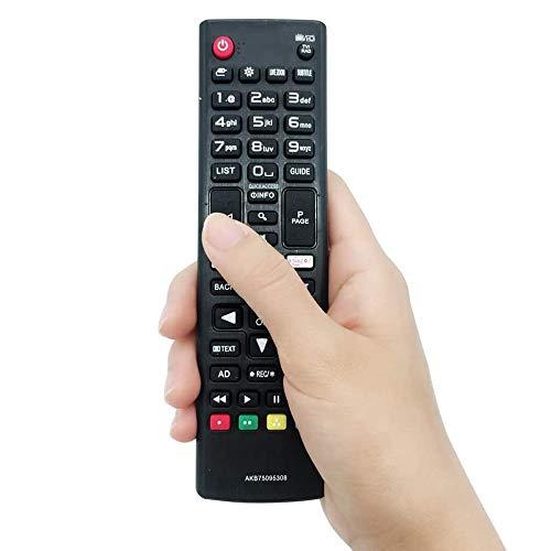 FireRune Neu Ersatz Universal-Fernbedienung AKB75095308 AKB75095307 für LG TV / 3D SMART TV Mit der Amazon Netflix Taste - Keine Einrichtung erforderlich Universalfernbedienung