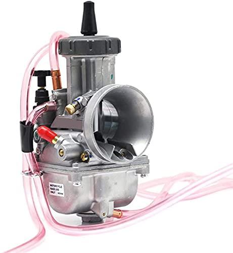 WPLHH KEIHIN PWK/carburador 33 34 35 36 38 40 42 mm Carb Racing Scooters Dirt Bike ATV con alimentación de combustible de chorro de energía, kit de carburador (color: 38 mm KEIHIN)