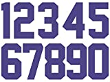 Numbers Kit(0-9),3 Inch Tall for Sports T-Shirt Jersey Football Baseball,Iron On, Heat Transfer, Team,t-Shirt(0-9) (Blue)