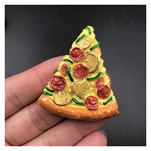 Imán de refrigerador Beijing asado Pizza Pizza Caliente Hot Perro Pan Hamburguesa Resina refrigerador Pasta Magnet artesanía artesanía decoración del hogar Nevera imanes (Color : 2 Pizza)