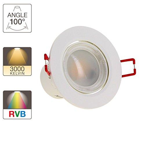 Xanlite SEL345RVBW Spot integré LED-345 lumens-Color-W, Plastique, 40 W, Couleur