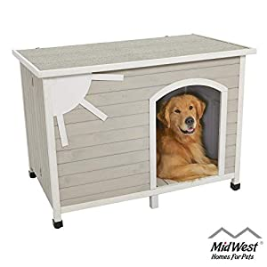 Eillo Folding Outdoor Wood Dog House, No Tools Required for Assembly   Dog House Ideal for Large Dog Breeds