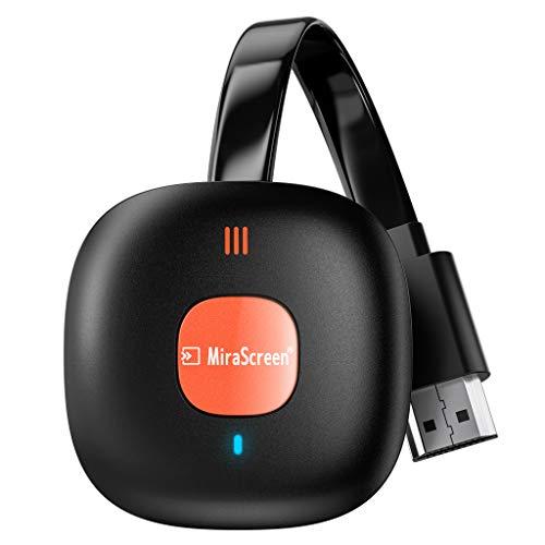 Wireless HDMI Display Dongle Adapter, AT-Mizhi 4K HDR WiFi Dongle Streaming Bildschirm teilen Anzeigeempfänger Unterstützung für Miracast/DLNA/Airplay für Android/iOS/Windows/Mac OS/Monitor/Projektor
